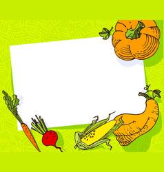 fall season banner autumn frame with crop vector image vector image