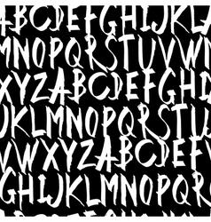 Handwritten Alphabet Seamless Pattern On black vector image vector image