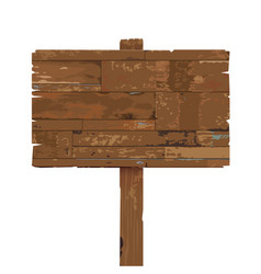 old weathered wooden sign isolated on white vector image vector image