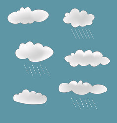rainy clouds set vector image