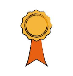 Rosette certificate quality premium ribbon icon vector
