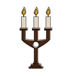 chandelier with lit candles icon image vector image vector image