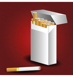 cigarette pack vector image vector image