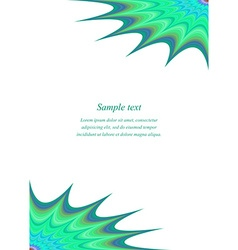 Curved star page corner design template vector image vector image