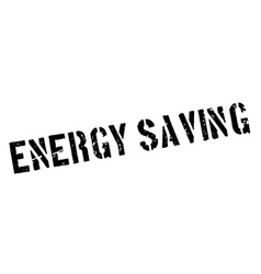 Energy Saving rubber stamp vector image