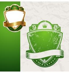 golden vintage green frames vector image vector image