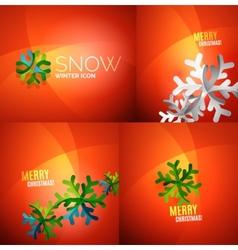 Modern Abstract Christmas Card set vector image