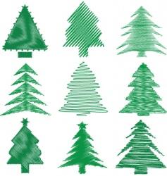 scribble Christmas vector image