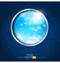 sky through the window vector image