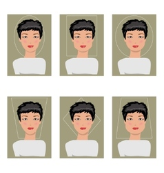 Women face types vector image