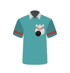 Blue T-shirt Player with the image of bowling vector image