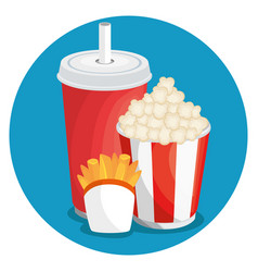 colorful fast food vector image