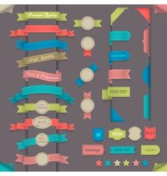 design elements in retro style vector image