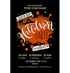 Halloween Party lettering typography vector image
