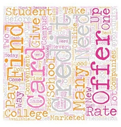 Ready for your very own college student credit vector