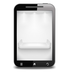Smart phone with shelf on the screen vector image