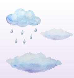 Watercolor clouds vector image vector image