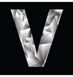 Crystal letter v vector