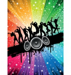 grunge party background vector image