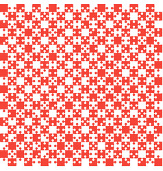 Red puzzle pieces jigsaw - - field chess vector