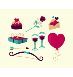 Valentines Day things vector image