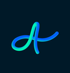 3d tube of the letter a vector image