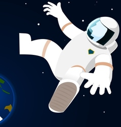 Astronaut in open space vector