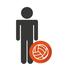 avatar silhouette athlete icon vector image