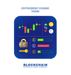 blockchain distributed ledger technology vector image