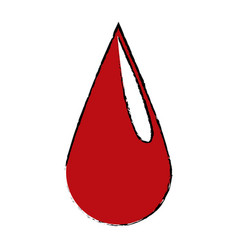 Blood drop donation campaing health life vector