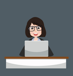 Business woman working concept vector