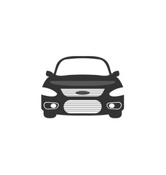 car front side graphic design template vector image