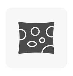 cheese icon black vector image