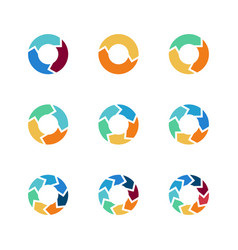 circle arrows elements for process vector image
