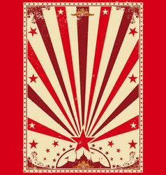 circus vintage red poster vector image