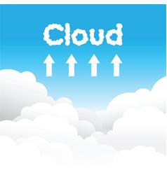 Cloud uploading concept background vector