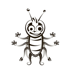 cockroach ink drawing vector image