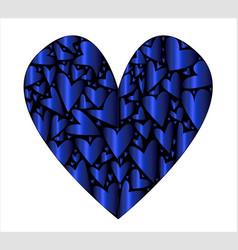 Cold blue heart vector