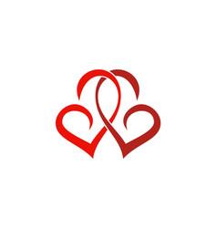 Couple love swirl logo vector