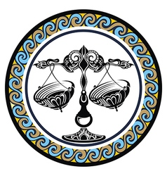 Decorative Zodiac sign Libra vector image