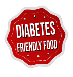 Diabets friendly food label or sticker vector