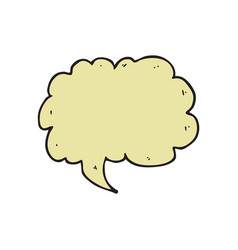 digitally drawn speech bubbles design hand vector image