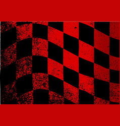 dirty chequered flag vector image