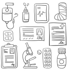 Doodle of medical element hand draw vector