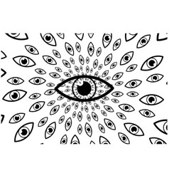 eyes - backgrounde vector image
