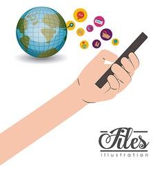 Files design vector image