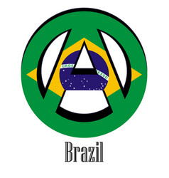 flag of brazil of the world in the form of a sign vector image