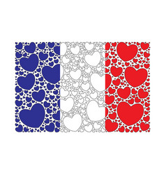 flag of france made of hearts vector image