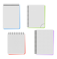 four notebooks vector image