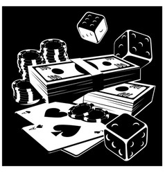 games chance and money vector image